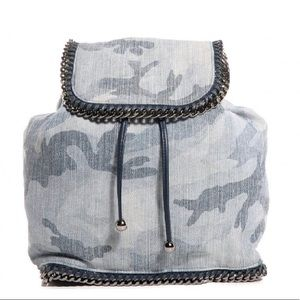 Stella McCartney Camoflauge Denim Backpack